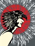Man Indian Eagle Profile