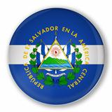 Badge with flag of El Salvador