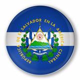 Badge with flag of El Salvador
