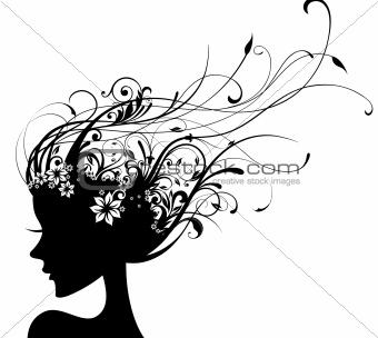 floral fashion girl