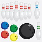 Set of bowling tools.