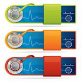 Glossy medical vector banners
