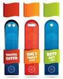 Vertical promotional banner / label set