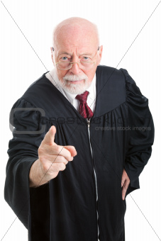 Judge - Stern and Scolding
