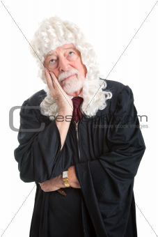 Judge in Wig - Bored