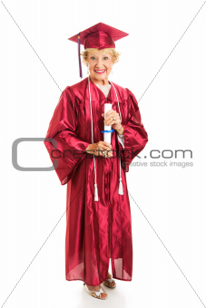 Senior Lady Graduates with Honors