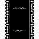 Card design vintage ornate frame on seamless background
