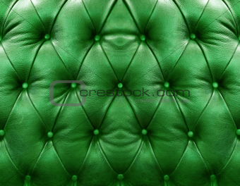 Green upholstery leather