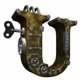 steampunk letter u