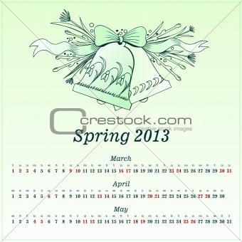 Calendar 2013 Spring