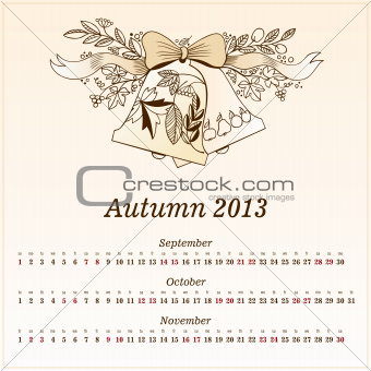 Calendar 2013  Autumn