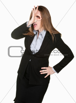 Woman Makes Funny Gesture