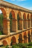 Roman Aqueduct Pont del Diable in Tarragona, Spain