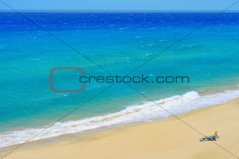 white sand beach in Fuerteventura, Spain