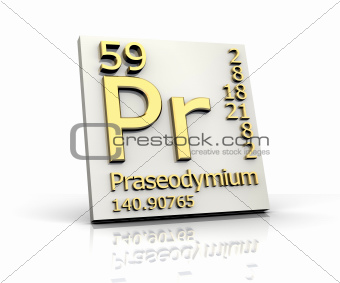 Praseodymium form Periodic Table of Elements