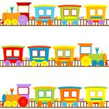 Background for kids with cartoon trains