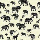 Grunge backgorund with elephants silhouettes