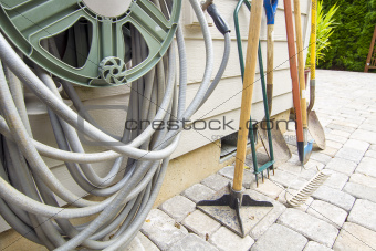 Gardening and Landscaping Tools by Watering Hose