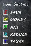 Smart goal setting concept on blackboard