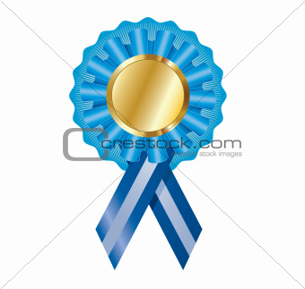 Blank vector certificate/award label