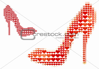 shoe love, vector