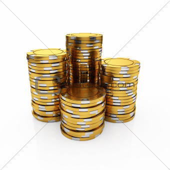 Golden casino chips