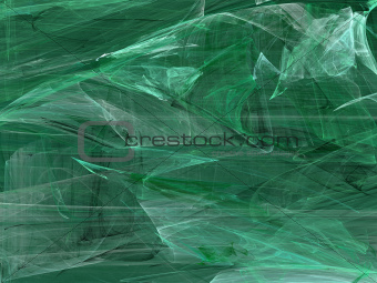 Grunge Random Fractal Pattern in Greens