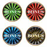 Set from four icons a bonus