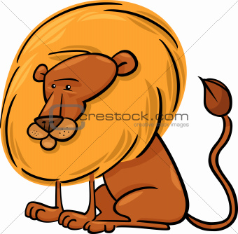 African Lion Cartoon