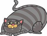 tabby fat cat cartoon