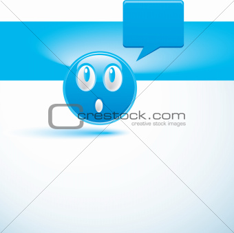 blue background with smiley