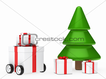 christmas gift box vehicle