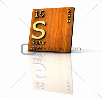 Sulfur form Periodic Table of Elements