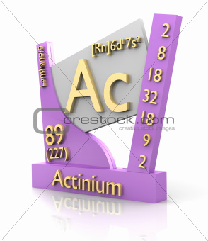 Actinium form Periodic Table of Elements - V2