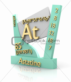 Astatine form Periodic Table of Elements - V2