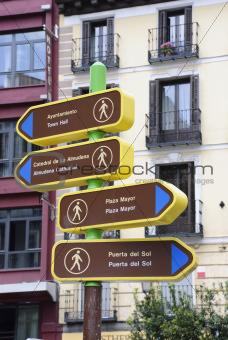 Tourist sign, Madrid