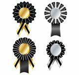 Set of commemorative vector ribbon