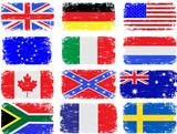 Grungy Flags