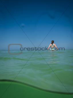 Young Woman in Gulf Waters