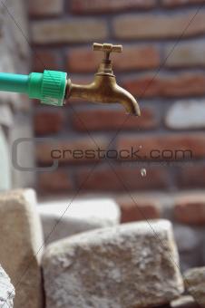 old garden tap