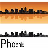Phoenix skyline in orange background
