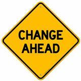 Change Ahead Yellow Sign