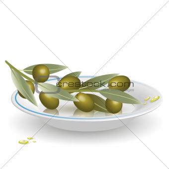 olives on saucer