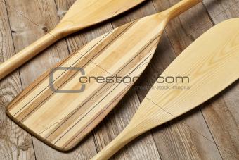 wooden canoe paddles