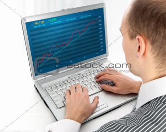 Financial diagram on a monitor
