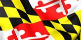 Flag of Maryland, USA.