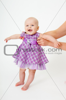 little girl with dress