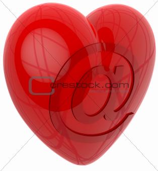 3d heart internet email