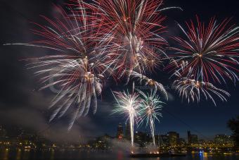 4th of July Fireworks Display in Portland Oregon