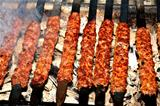 Shish kebab cooked, Adana, Turkey